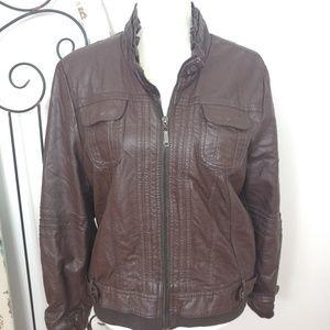 Jou Jou faux leather jacket XL petite